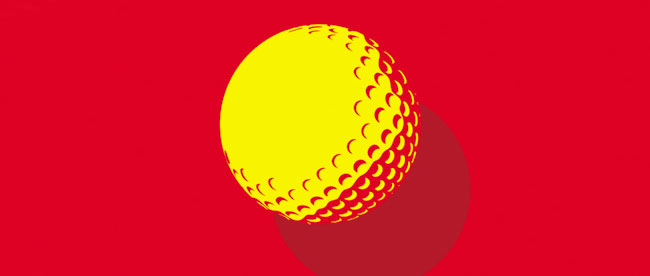golf-ball-yellow-on-red